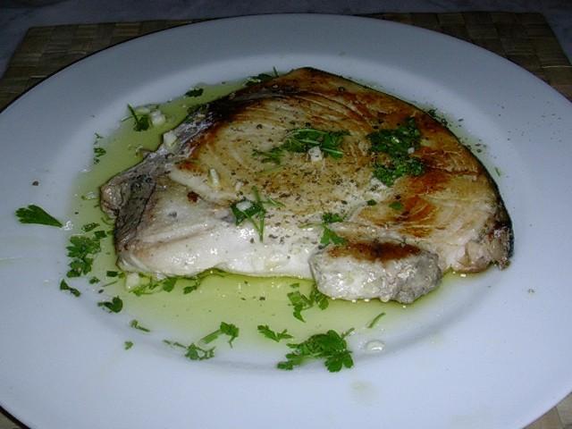 pesce spada in salmoriglio