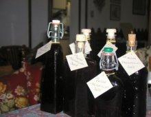 bottiglie di liquore prugnolino di fiorella