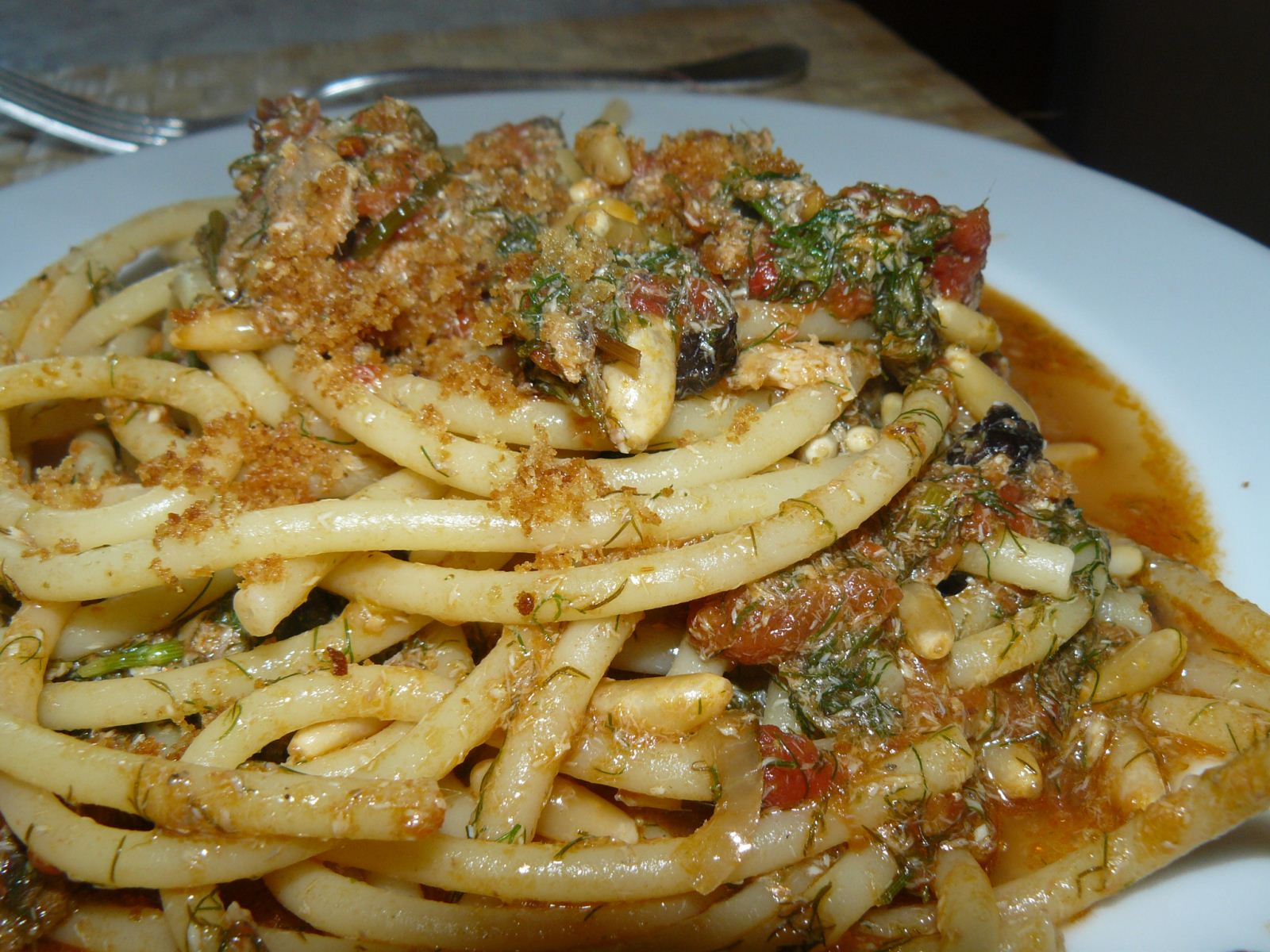 Pasta con le sarde alla milanese (pasta 'a milanisa)