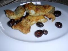 baccalà fritto con le olive nere