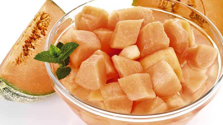 spesso Ricetta Gelatina di melone con cornetti di prosciutto crudo  KM31