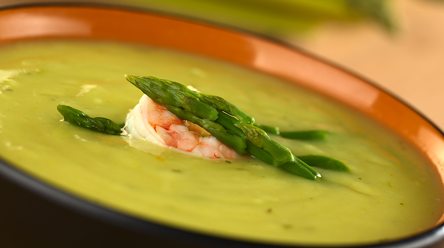 Risultati immagini per crema di asparagi e gamberi