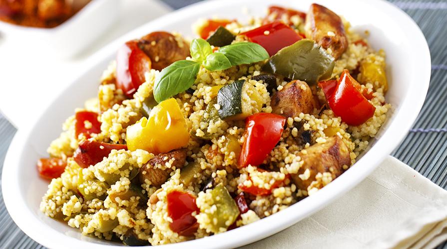 ricetta couscous con verdure in agrodolce e pollo