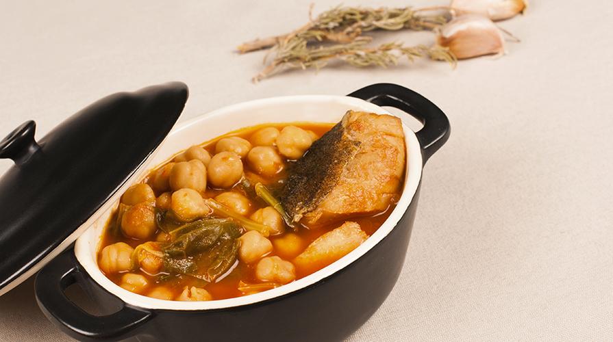 zuppa di baccalà e ceci