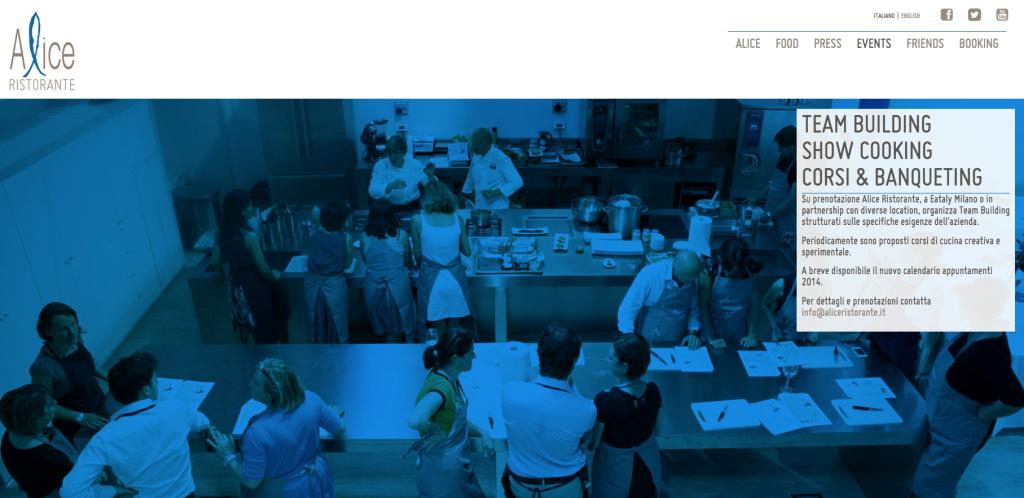 schermata alice ristorante