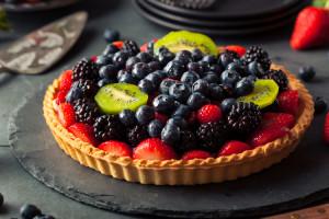 crostata crema e frutta