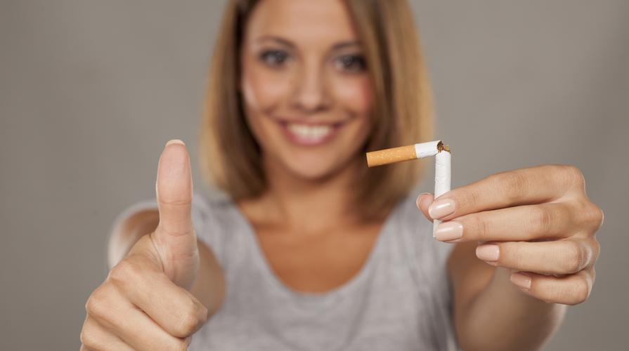 Smettere di fumare senza una serie di peso di una targa