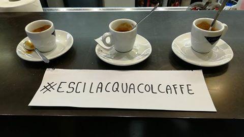 #Escilacquacolcaffè