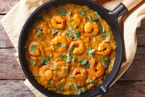 riso curry zucchine gamberetti