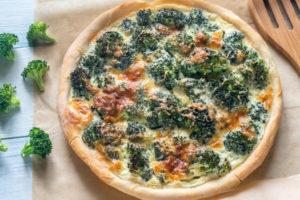 Torta broccoli e provola